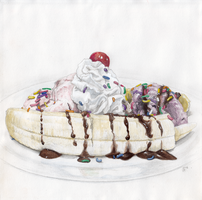 Banana Split by becsketch
