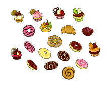 Free - Pastry Treats Coloured by Gormstar