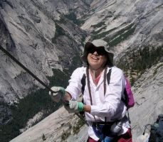 Patricia Makes it up Half-Dome by AndySerrano