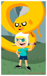 Finn and Jake by AlexDeHatter