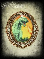 Godzilla Brooch by FrillsandMorbidity