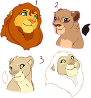 Lion Busts Offer To Adopt-CLOSED by oCrystal