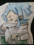 Sinon drawing by Aura-Slush