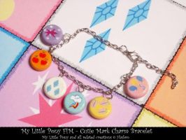My Little Pony - Cutie Mark Charm Bracelet by Cryssy-miu