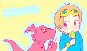 Guilmon is hungry! by izumi07