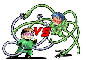DOC OCK vs Carlyle...chibi. by yayane