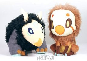 Little Moon and Sun Plush available now! by Flying-Fox