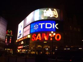 Piccadilly Circus At Night by up-the-creek