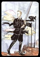 Heydrich Tarot: Page of Swords by hello-heydi