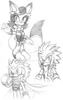 Sonic Fan Character sketches by Togekisser