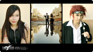 Reno and Tifa Cosplay triptych by lonelymiracle