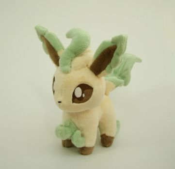 Leafeon Chibi Plush by Yukamina-Plushies