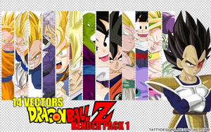 Dragonball Z Anime Render Pack 1 by TattyDesigns