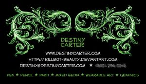 My Own Business Card by Destiny-Carter