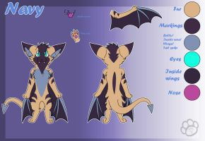 Navy the bat - Reference by Marcella-Youko