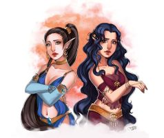 Commission : Maeve and Lady Edessa by utenaxchan