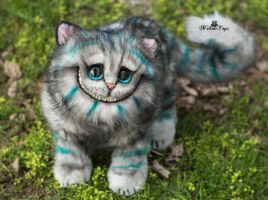 Poseable toy commission Cheshire Cat by MalinaToys