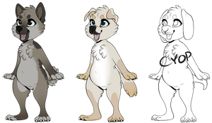 Anthro Dog Adopts by bieIIe