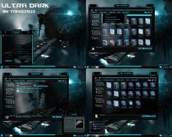 windows 7 theme dark blue by tono3022