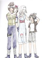 SasuSaku family by KHwhitelion