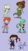 Lil' TMNT girls by juliefofisss