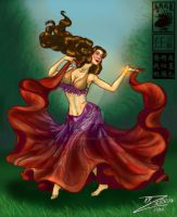 Gypsy Skirt Belly Dancer by BlackUniGryphon