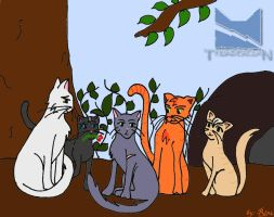 Thunder Clan cats by Rin4