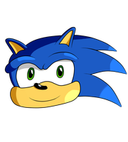 Sonic's head by XalenTheWolf