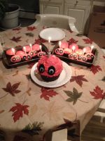 Awesome FNAF Birthday cake! by xCyberEvilx