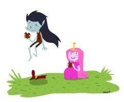 Marceline/Bubblegum by qesito
