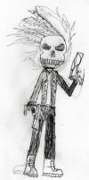 Dante Kyoya (Ghost Rider state) by TheArcGuardian