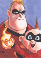 Mr. Incredible and Jack-Jack by tdastick