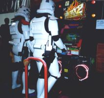 STORMTROOPERS PLAYING DDR by LeonaCarter