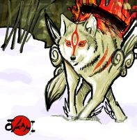 okami sketch by tonytorrid