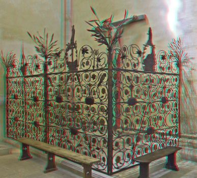 Naumburger Dom : Anaglyph 3D : by zour