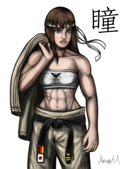 Colored Hitomi from Dead or Alive by MarioUComics