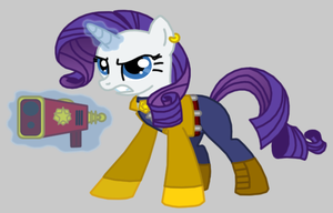 Rarity as Carmelita by Death-Driver-5000