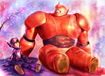Big Hero 6 - Hiro Hamada and Baymax by p1xer