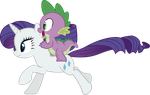 Spike and Rarity by j5a4