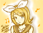 *COMMISSION* Kagamine Rin by herpyderpymegu