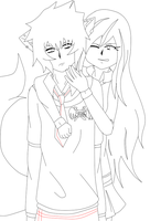 WIP: Hunter and Tam. ||Warm Welcome || by Azure-Samurai