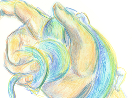 Ssssnakehand Colored Pencil by Caraphae
