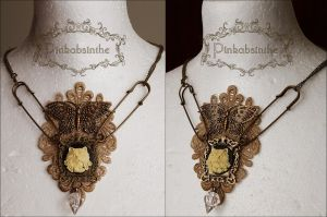 Herbarium necklace by Pinkabsinthe