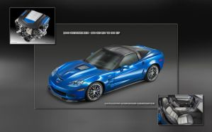 2009 Corvette ZR1 by jaidaksghost