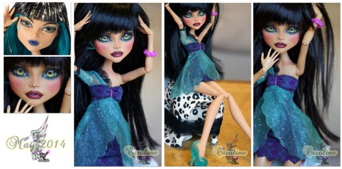 MH Cleo de Nile repaint #10 ~Caroline~* by RogueLively