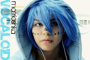 Vocaloid Matrioshka's Kaito - His Face by HaydeeShiva