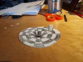 3D Illusion drawing: hole by L-Larts