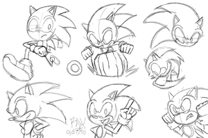 Sonic Sketchies by RGXSuperSonic
