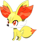 Fennekin sitting down pose, part one 5/37. by Flutterflyraptor