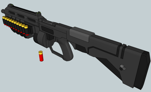 M90-a Shotgun 3D finished by Izaak94